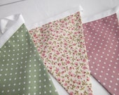 Handmade Bunting - Spotty & Pink Floral