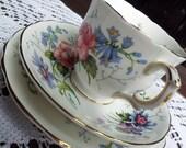 Vintage Tea Cup Candle Trio - J T Jones, Crown Staffordshire