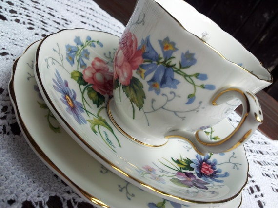 Vintage Tea Cup Candle Trio - J T Jones, Crown Staffordshire