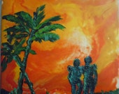 The two of Us, Encaustic painting