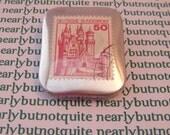 German Castle Postage Stamp Badge