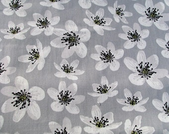 Anemone- Cotton Fabric By Yard- Scandinavian Design- For Curtains, Roman Blinds, Pillow covers etc.