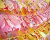 Backdrop Ruffles - Pink and Yellow Fabric Photo Booth Backdrop Add-Ons