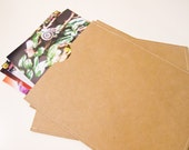 Photo Sleeves - 8x10 Stitched Photo Sleeves - Set of 8 - Brown or White