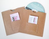 DVD Cases / Sleeves - Set of 20 brown DVD sleeves with business card pocket on the front