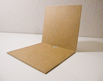 DVD Cases / Sleeves - 25 Brown Stitched DVD Sleeves with Flap