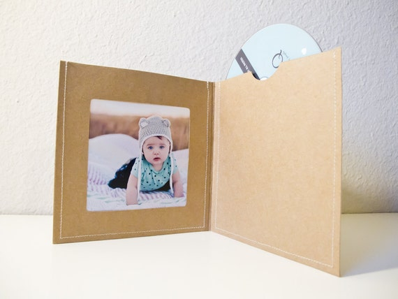 8 Stitched CD/DVD Case / Sleeve with Photo Opening