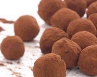 Christmas gift - Gluten free Recipe of the French Chocolate Truffles - Pdf Tutorial - Kit DIY - Free shipping