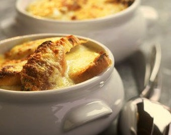 Christmas gift - French Paris Onion Soup recipe - Free Shipping Gift