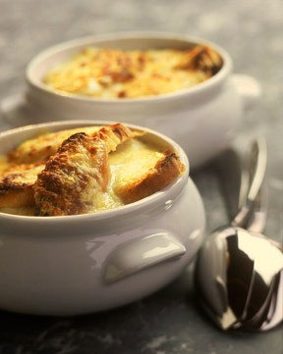 Christmas gift - Gluten free French Paris Onion Soup recipe - Pack Pdf tutorial Kit DIY - Free Shipping