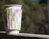 Rainbow Sprinkles Coffee Cozy