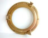 Vintage Brass Porthole Window - Nautical Decor