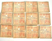 Vintage Mallo Cup Candy Certificates / 5 Cent Play Money (Letter F, Set of 12) - Great for journals, paper crafts, and more (N2)
