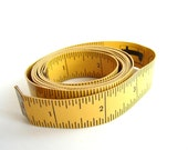 Vintage Yellow Vinyl Tape Measure - Measuring Tape Sewing Notion, Altered Art Supply, and more