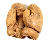 Vintage / Antique Leather Boxing Gloves (circa.1920s/1930s) - Collectible, Home Decor, Man Cave