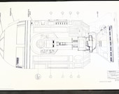Vintage Star Wars Blueprint for R2-D2 / Side Elevation (1) - Collectible, Home Decor, altered art and more