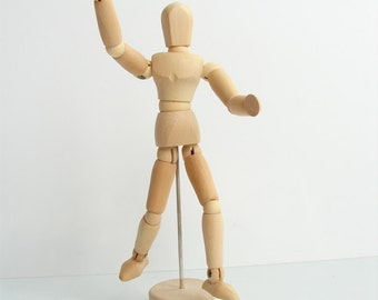 "Mini Wood Manikin / Mannequin (5"" high) - Perfect for drawing, decoration, or quirky companionship"