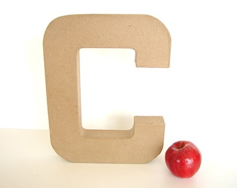 "Paper Mache Letter C (12"" tall) - Ready to Decorate Blank Letter, Home Decor, and more"