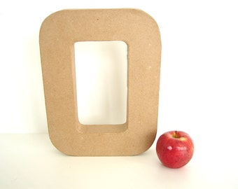 "Paper Mache Letter O / Number Zero 0 (12"" tall) - Ready to Decorate Blank Letter, Home Decor, and more"