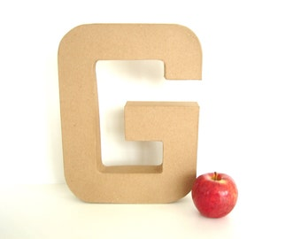"Paper Mache Letter G (12"" tall) - Ready to Decorate Blank Letter, Home Decor, and more"