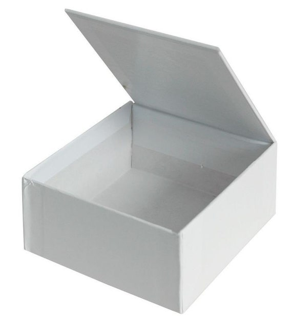 Blank White Hinged Lid Box Small Cigar Style Box Diy Gift
