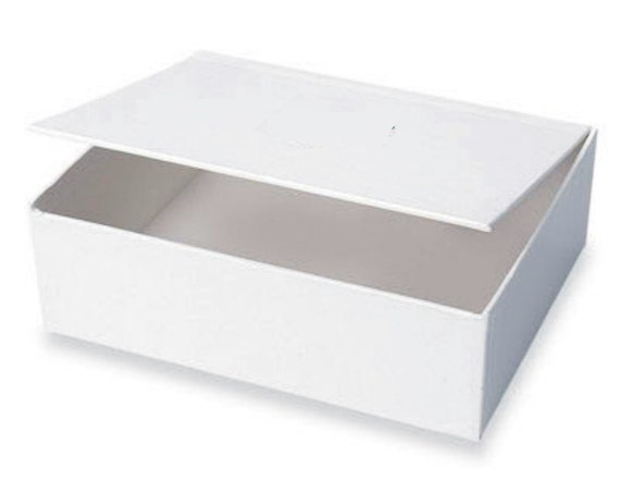Blank White Hinged Lid Box (Jumbo) - Blank Cigar Box, Craft Box, Storage Box, Gift Box