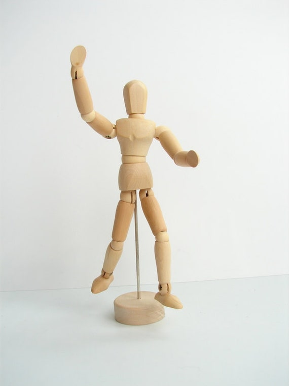 """Mini Wood Manikin / Mannequin (5"""" high) - Perfect for drawing, decoration, or quirky companionship"""