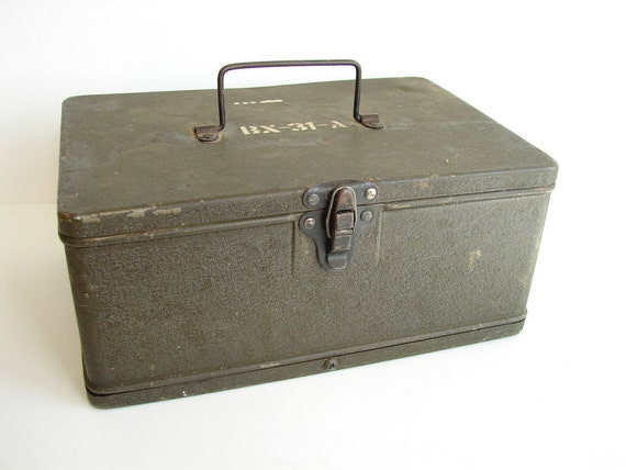 Vintage Heavy Duty Metal Field Box / Army Ammunition Box, Radio Box - Collectible, Home Decor, Unique Storage Box and more