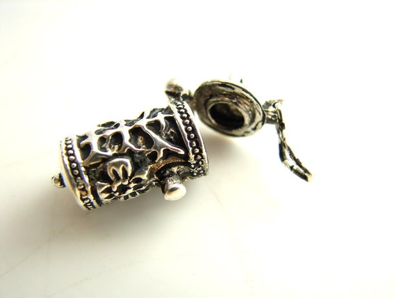 Time Capsule Prayer Box Charm / Pendant in Antique Silver Finish - Create your own bracelet or necklace