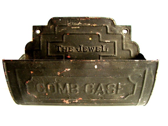 "Vintage / Antique Tin ""The Jewel"" Comb Case - Collectible, home decor, storage"