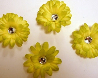 Lime 2 inch Gerber Daisy(set of 4)was 1.10