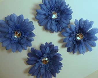 Blue 2.5 inch Gerber Daisy (set of 4)was 1.50