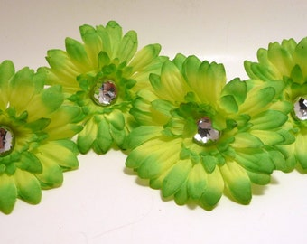 Lime 2.5 inch Gerber Daisy(set of 4)was 1.50