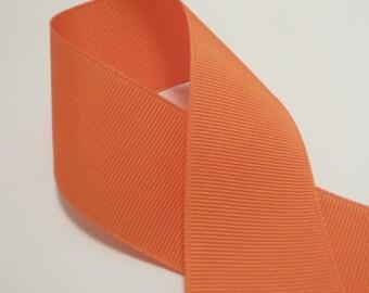 3 Yards Orange 1.5 inch Grosgrain Ribbon