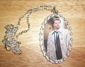 Supernatural Castiel pendant silver tone