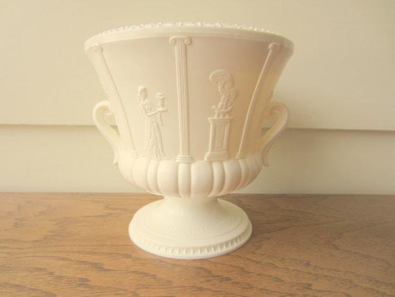 Vintage plastic Greek planter.  Wedding decor.