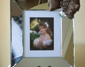 8x10 Wedding Frame Bow Jewel Portrait Bride Engagement Anniversary Luxe Elegant Bling Glam