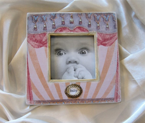 Baby Photo Frame Gift Personalized First Baby Gift Idea Singer Actress Performer Colorful Bling Theater Performing Arts Drama