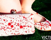Victim Hand Painted Blood Spatter Minaudière Hard Case Clutch - As seen on The TODAY Show