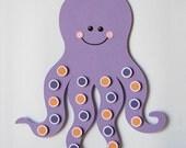 Octopus Art Kids Wall Decor Sea Life Art Matte Marine Animals Under the Sea Purple Octopus