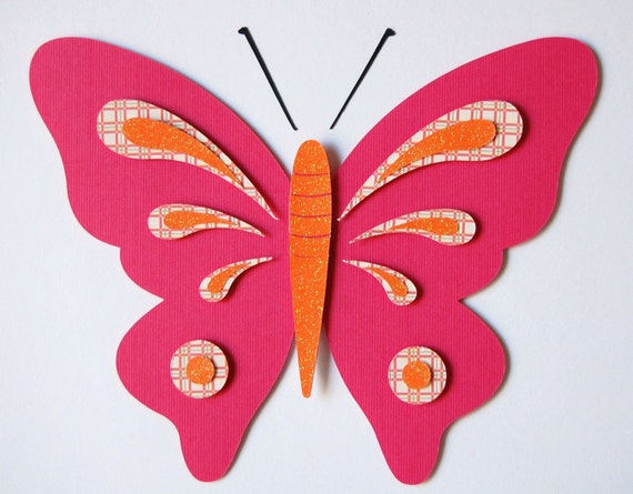 Etsy Butterfly Wall Decor : Items similar to butterfly decor kids wall matted