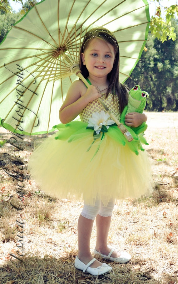 Princess Tiana from Princess and the Frog inspired tutu dress