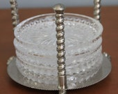 silver claw foot coaster holder - hold for kelly