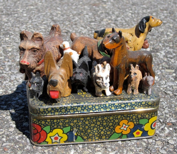 Vintage Dog Tin Sculpture