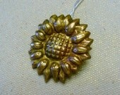 Handcrafted Copper (PMC) Sunflower Necklace
