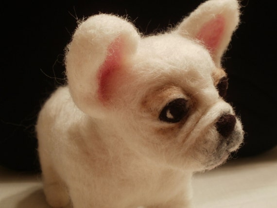 French Bulldog Puppy Artist Needle Felted - OOaK - Tina