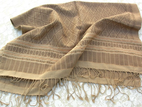 Natural Hand-woven Thai Cotton Table Runner/Cover