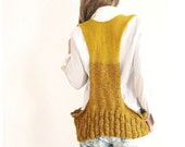 Loose Fit Waistcoat in Nugget Gold.
