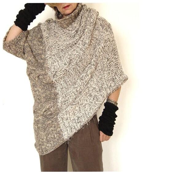 Awry Sweater. Earthy Coloring. Wool blend yarn.