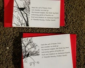 RAVEN CROW Harvest Note Cards with Original Poetry Set of 8 Notecards